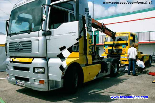 Le camion d'assistance Man - Dijon 2001