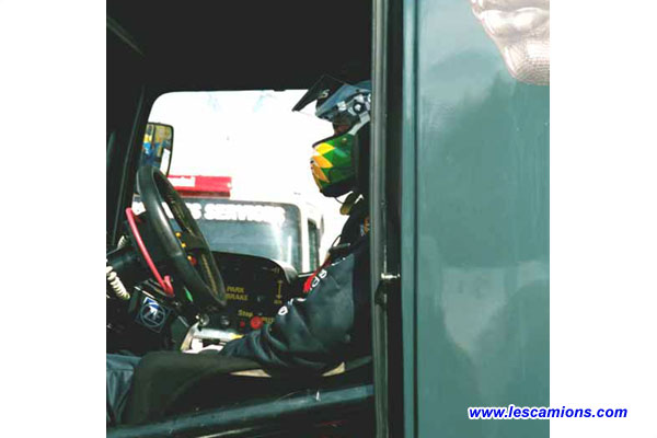 Steve Parrish se concentre - Dijon 2001