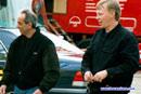 Harri Luostarinen et son manager Henry Garcia - Dijon 2001